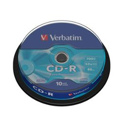Verbatim CD-R 52X 43437 Spindle(10PK)