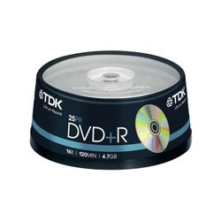 TDK DVD+R TDK 4.7GB 16x 25 Tube