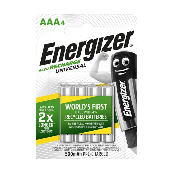 Energizer AAA 500mAh Επαναφορτιζόμενες