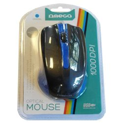 Omega Optical OM-05 Blue Wired Mouse