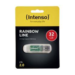 Intenso 32GB Rainbow Line Transparent