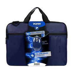 """Port 15.6"""" Τσάντα Laptop & Polaris Mouse Blue"""