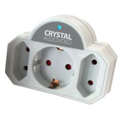 Crystal Audio 3 Θέσεων Λευκό