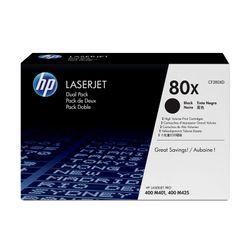 HP 80X 2-Pack High Yield Black