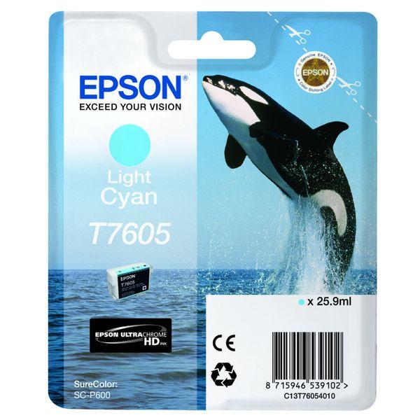 Epson T7605 Cyan Clair High Capacity