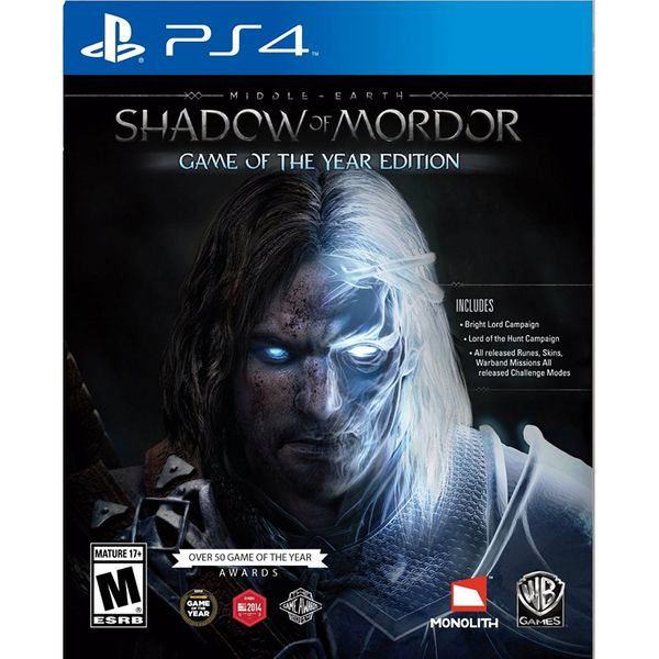Warner Middle Earth Shadow of Mordor Game of The Year Edition