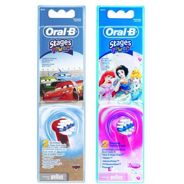 Oral-B EB10-2K.1 Stages Power Kids Ανταλλακτικό Βουρτσάκι 2τμχ