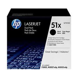 HP 51X Dual Pack Black (Q7551XD)