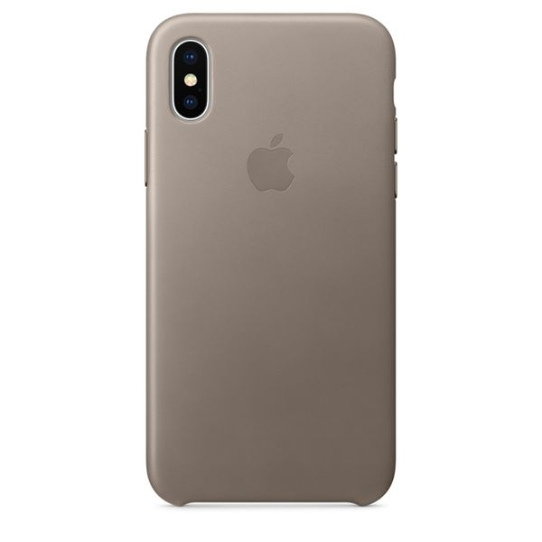 Apple iPhone X Leather Taupe