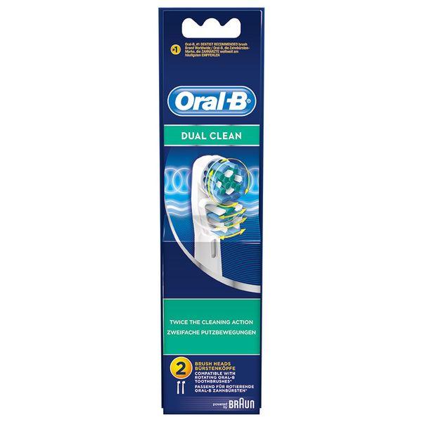 Oral-B EB417-2/N Dual Clean Ανταλλακτικό Βουρτσάκι 2τμχ
