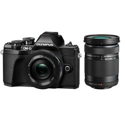 Olympus E-M10 Mark III EZ-M 14-42mm II R & 40-150mm II R Kit Black