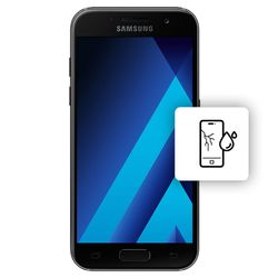 Αλλαγή Οθόνης Samsung Galaxy A3 2017 Black με Αδιαβροχοποίηση