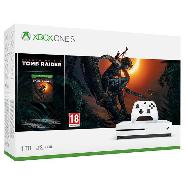 Microsoft Κονσόλα Xbox One S 1TB & Shadow of the Tomb Raider