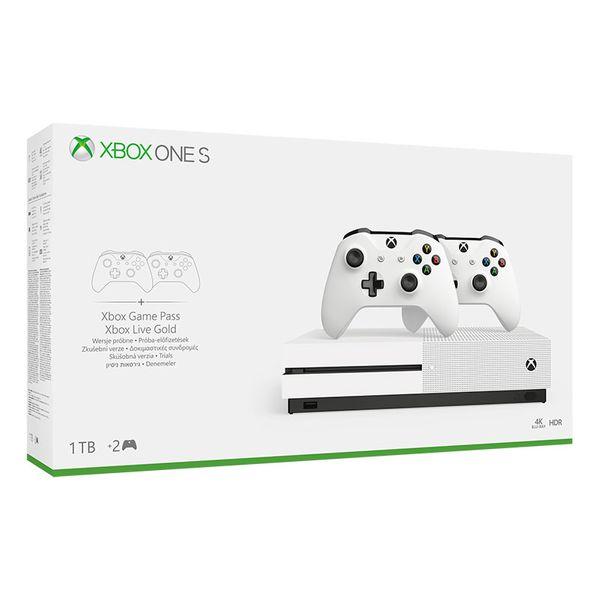Microsoft Κονσόλα Xbox One S 1TB & 2nd Controller White