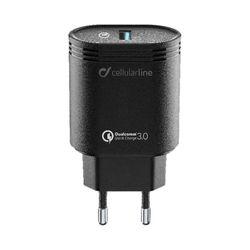 Cellular Line Qualcomm Quick Charge 3.0 18W Black