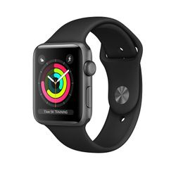Apple Watch Series 3 GPS 38mm Space Gray Aluminium Case με Black Sport Band