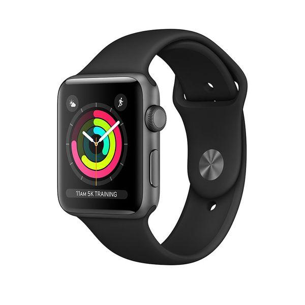 Apple Watch Series 3 GPS 42mm Space Gray Aluminium Case με Black Sport Band
