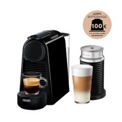 Delonghi EN85.BAE Essenza Mini Black & Aeroccino