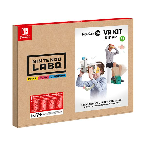 Nintendo Labo VR Kit Expansion Set 2 (Bird + Wind Pedal)