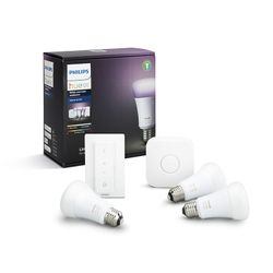 Philips Hue Smart Light Bulb 10W A60 E27 White and Color Ambiance Starter Kit