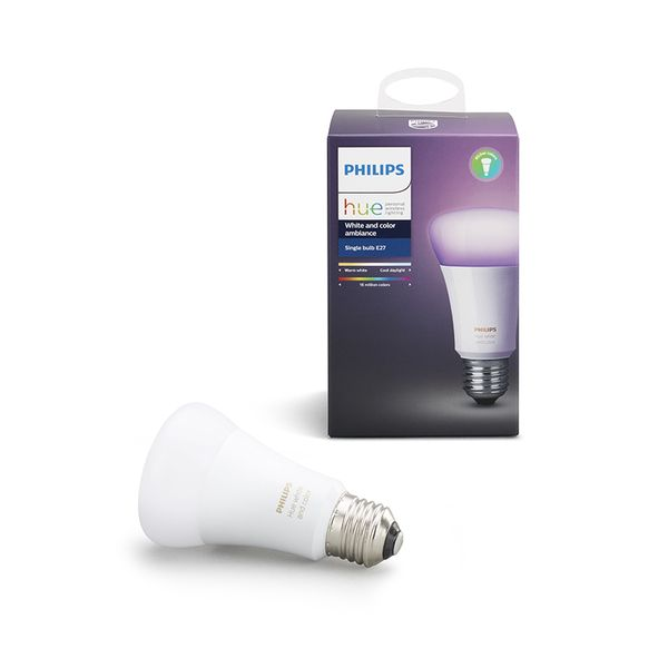 Philips Hue Smart Light Bulb 10W A60 E27 White and Color Ambiance 1-pack