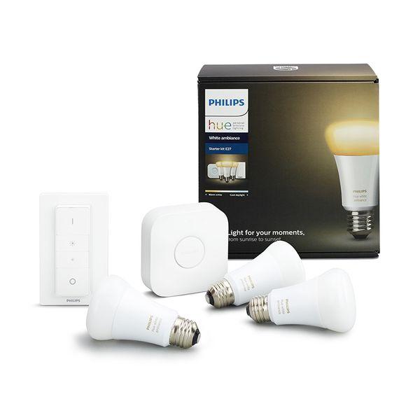 Philips Hue Smart Light Bulb 9.5W A60 E27 White Ambiance Starter Kit