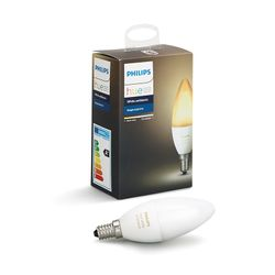Philips Hue Smart Light Bulb 6W B39 E14 Candle White Ambiance 1-pack