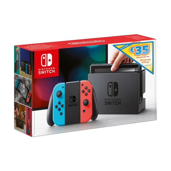Nintendo Switch Red & Blue Download Code for Nintendo eShop Credit