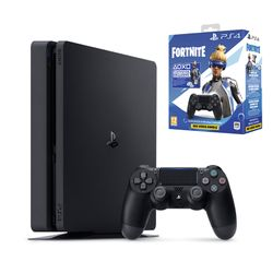 Sony PS4 500GB Slim & 2nd DS4 Wireless Controller & Fortnite VCH