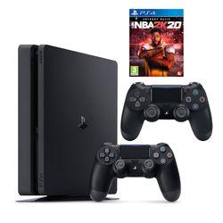 Sony PS4 500GB & NBA 2K20 & 2nd DS4 Black