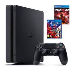 Sony PS4 500GB & eFootball PES 2020 & NBA 2K20