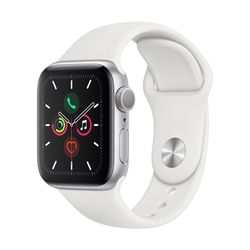 Apple Watch Series 5 40mm Silver Aluminum Sport Band White