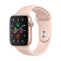 Apple Watch Series 5 44mm Gold Aluminum Sport Band Pink Sand