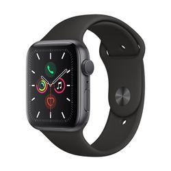 Apple Watch Series 5 44mm Space Gray Aluminum Sport Band Black