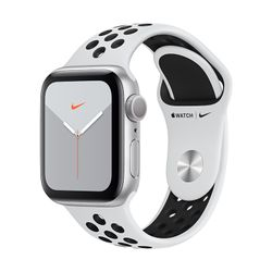 Apple Watch Nike Series 5 40mm Silver Aluminium with Nike Sport Band Pure Platinum/Black
