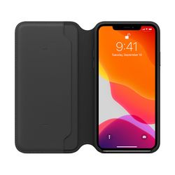 Apple Leather Folio Case iPhone 11 Pro Max Black