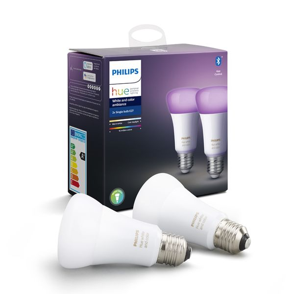 Philips Hue White & Color Ambiance 2x Single Bulb E27