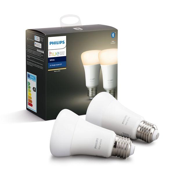 Philips Hue White 2x Single Bulb E27