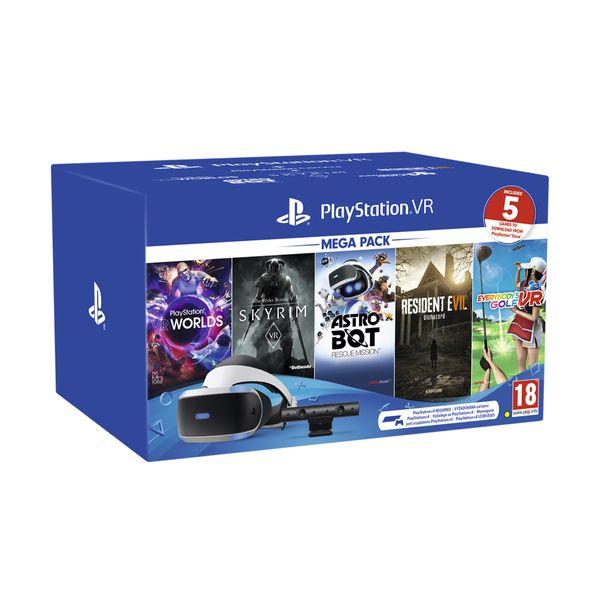 Sony PS VR Headset & Camera V2 & VR Worlds(VCH) & 4 Games(VCH)