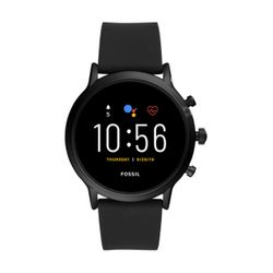 Fossil Gen 5 The Carlyle HR Black Silicone