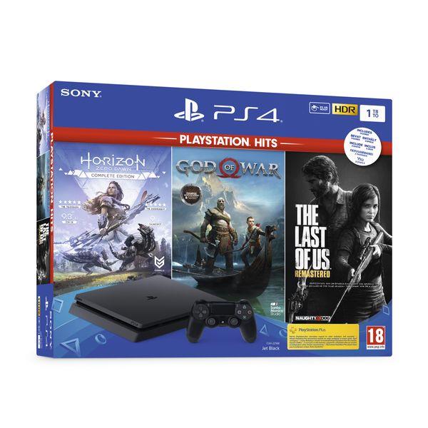 Sony  PS4 1TB God of War & Horizon Zero Dawn & The Last of Us