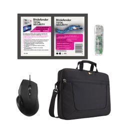 "Advent A6BWRD19 Black Ποντίκι & Bitdefender Total Security & Intenso 32GB USB & Case Logic Τσάντα Laptop 15.6"""