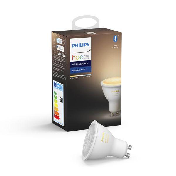 Philips Hue White Ambiance Single Bulb 5.5W GU10 Bluetooth