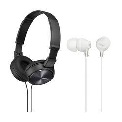 Sony ZX310AP Black & MDREX15AP White