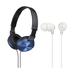 Sony ZX310AP Blue & MDREX15AP White