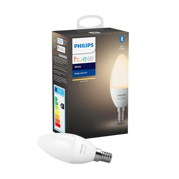 Philips Hue White Single Bulb E14 Bluetooth