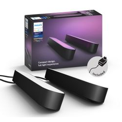 Philips Hue White and Color Ambiance Play Light Bar 2-pack Black