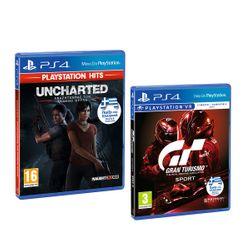 Uncharted: Αναζητώντας τον Χαμένο Θρύλο (PS Hits) & Gran Turismo Sport Spec II