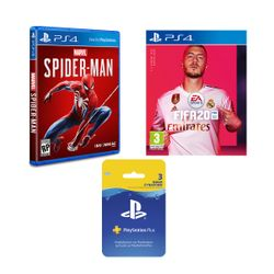 Marvel`s Spider-Man & Fifa 20 & Card Playstation Plus 90Days