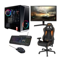 "Infinity Gear Core R5 PC & LG 24"" 1ms Monitor & ADX Gaming Καρέκλα, Πληκτρολόγιο & Ποντίκι"